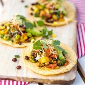 Veggie Enchilada with Text