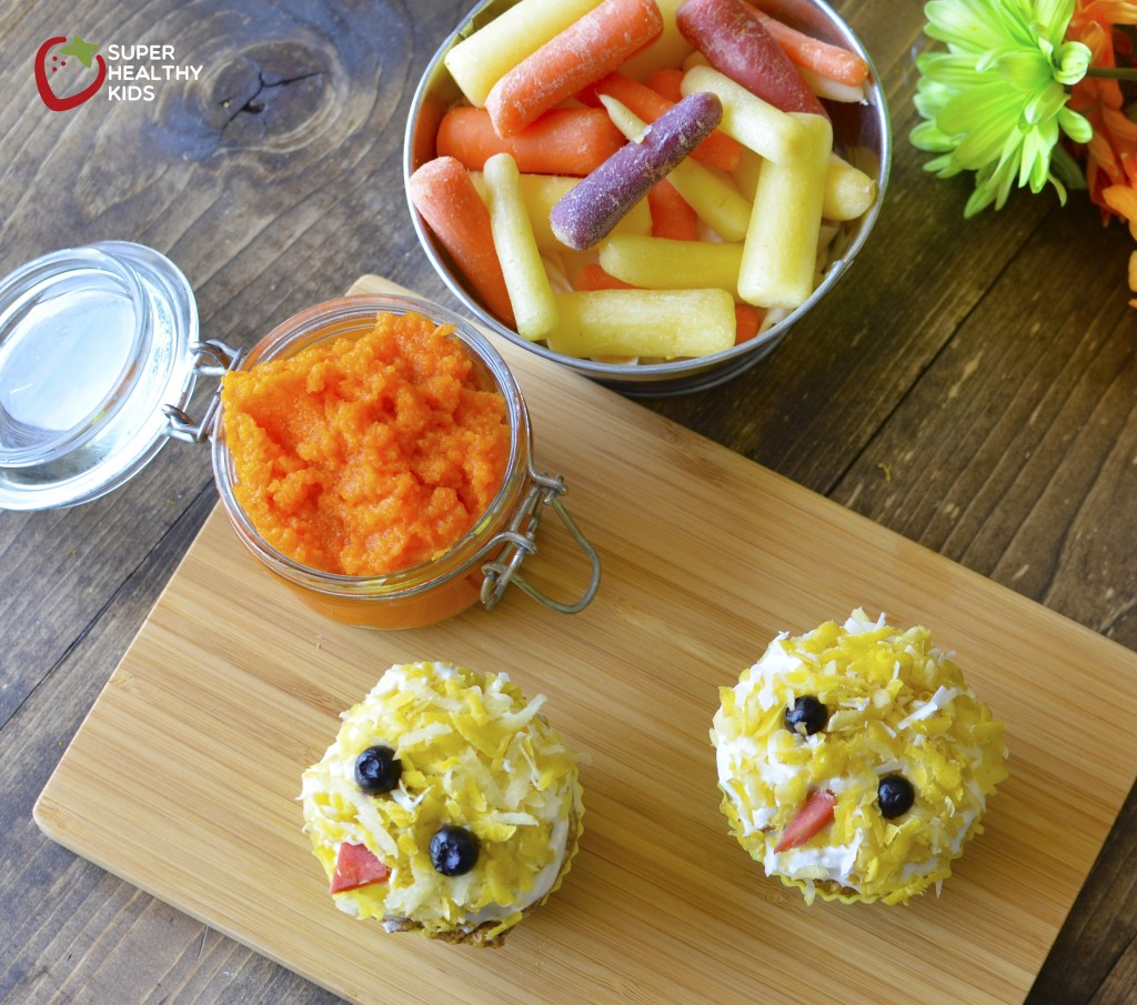 carrot cupcakes for easter from super healthy kids