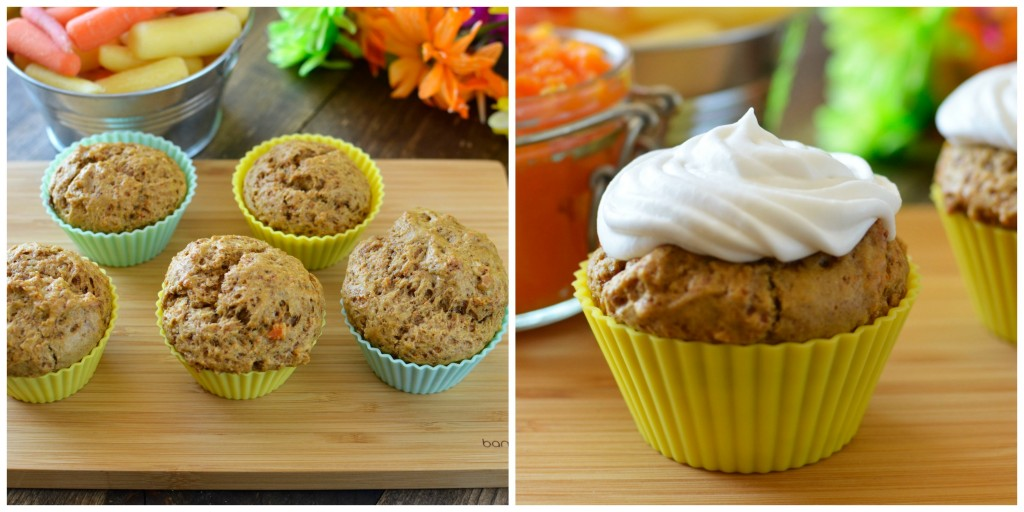 frosting carrot muffins