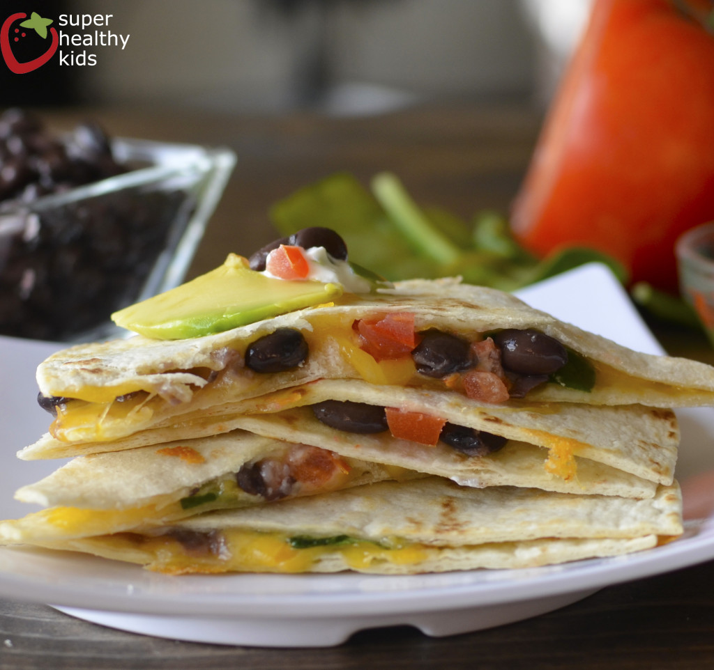 black bean quesadilla from shk