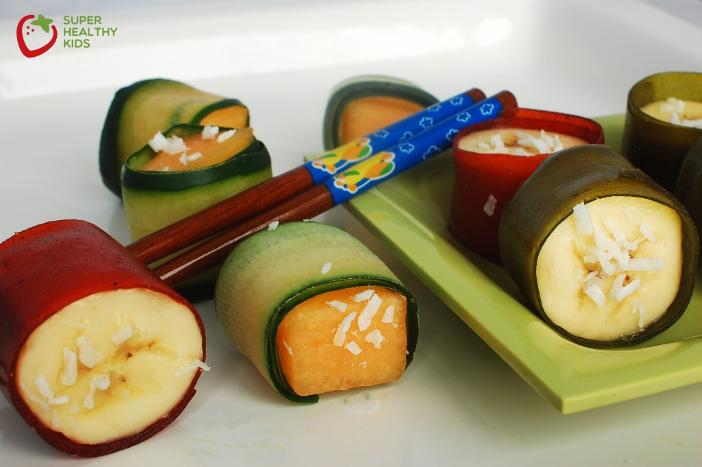 fruit sushi from super healthy kids