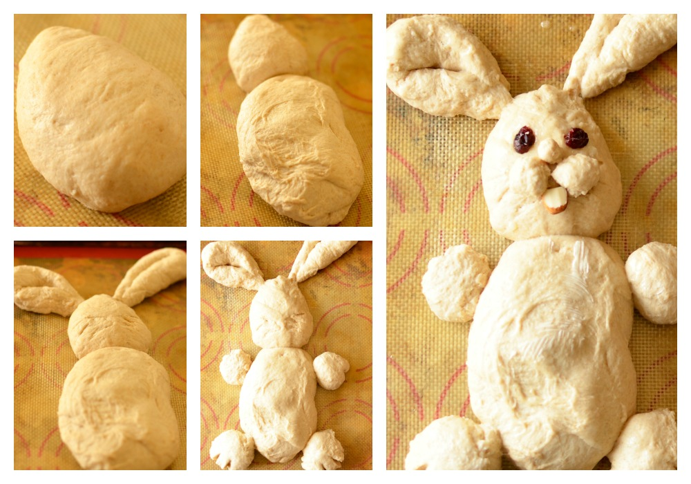making bunny bread