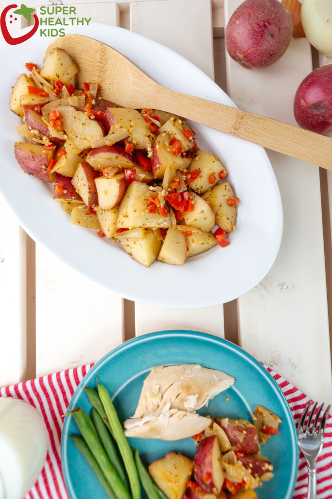 Delicious and easy Italian Crockpot Potatoes