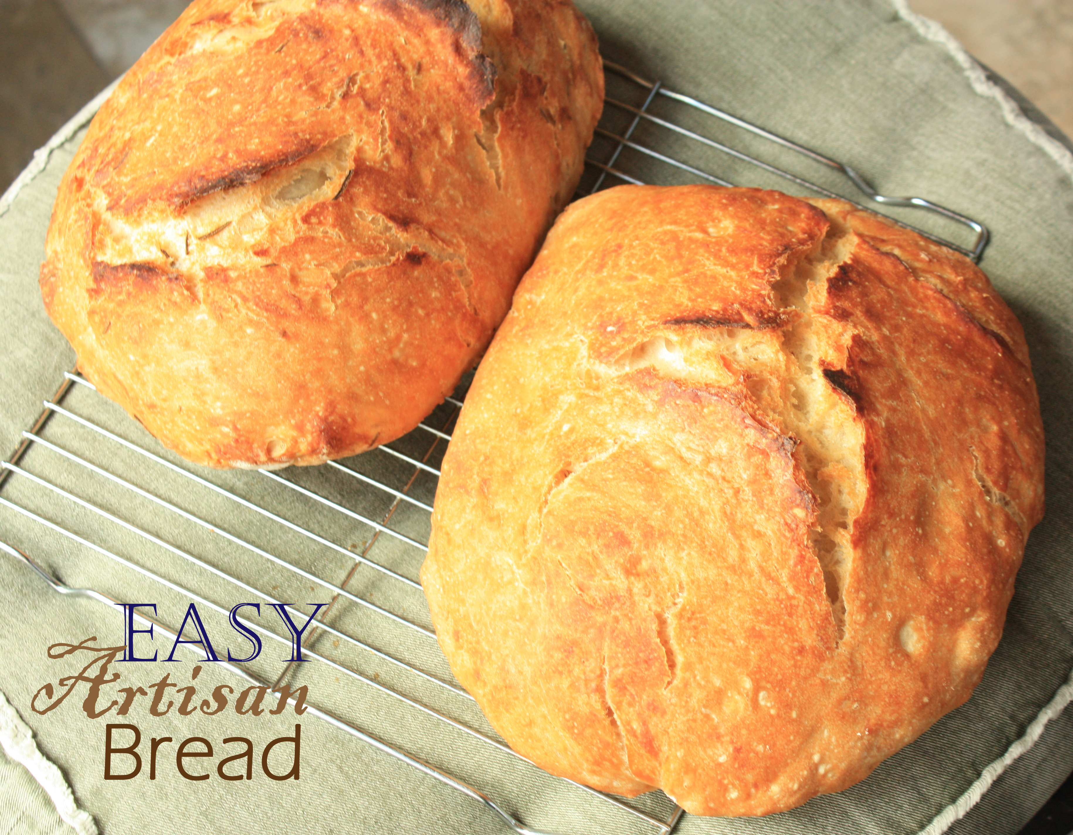 The super easy, no need to knead, Artisan Bread!