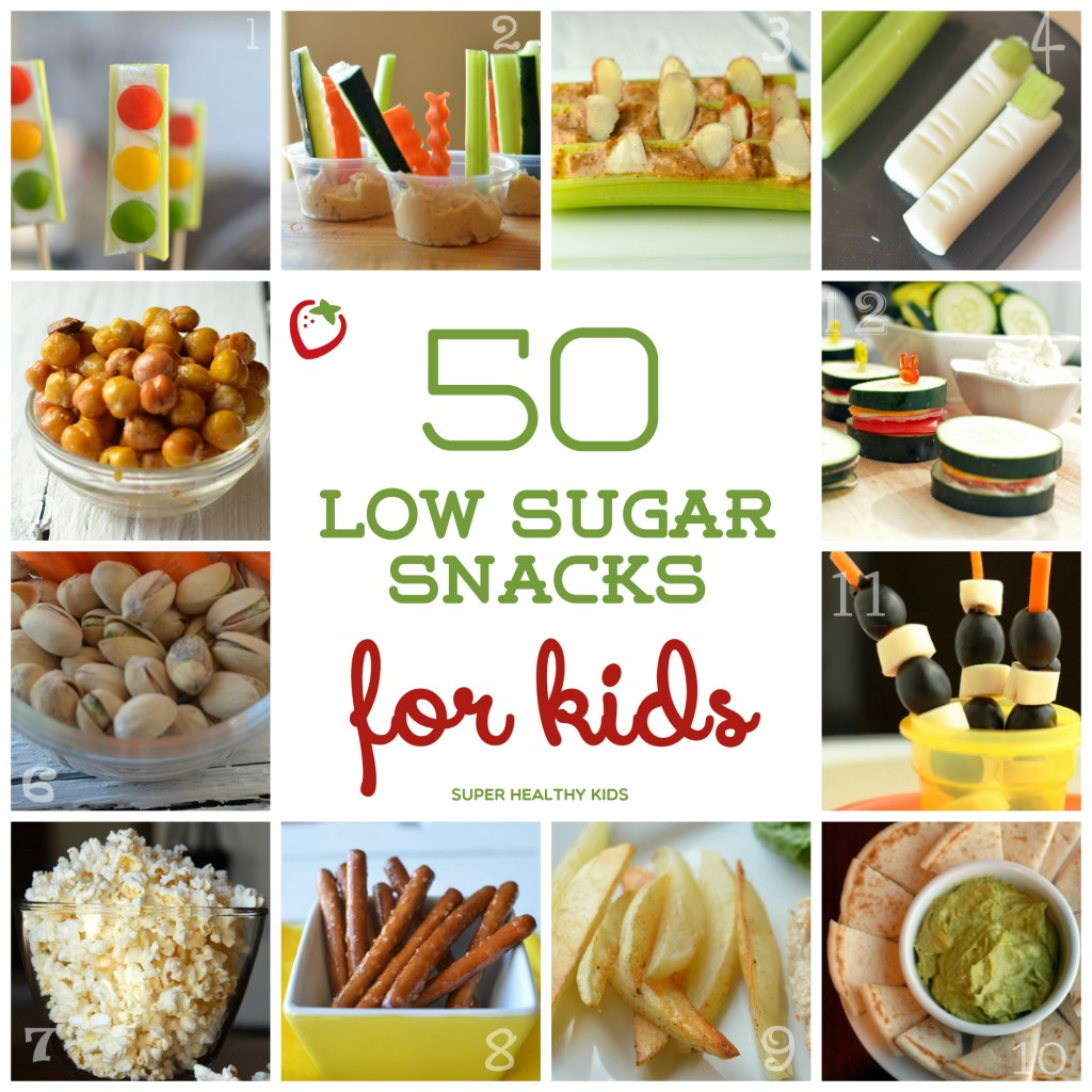 You will want to save this list-50 low sugar snacks for kids!