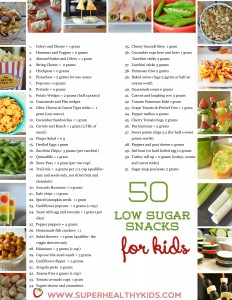 50 Low Sugar Snacks for Kids. 50 low sugar snacks for kids printable small