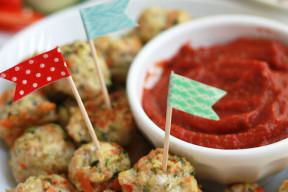 Pesto Chicken & Veggie Meatballs. (Free of the top 8 allergens!)