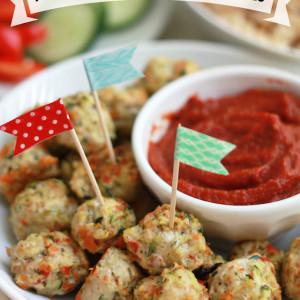 Pesto Chicken Veggie Meatballs