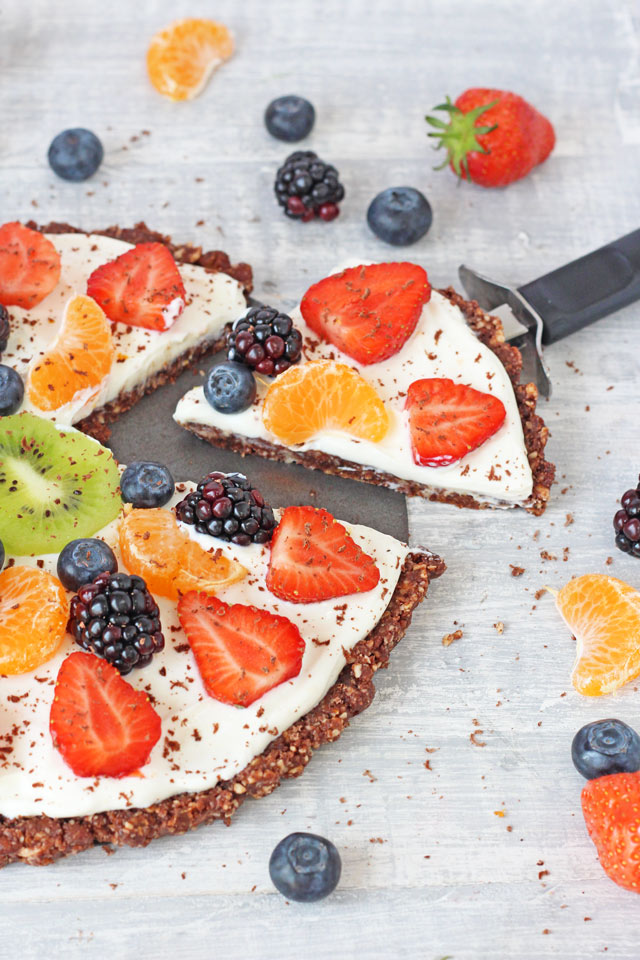 Desserts Fruit Healthy Healthy no Bake Fruit Pizza