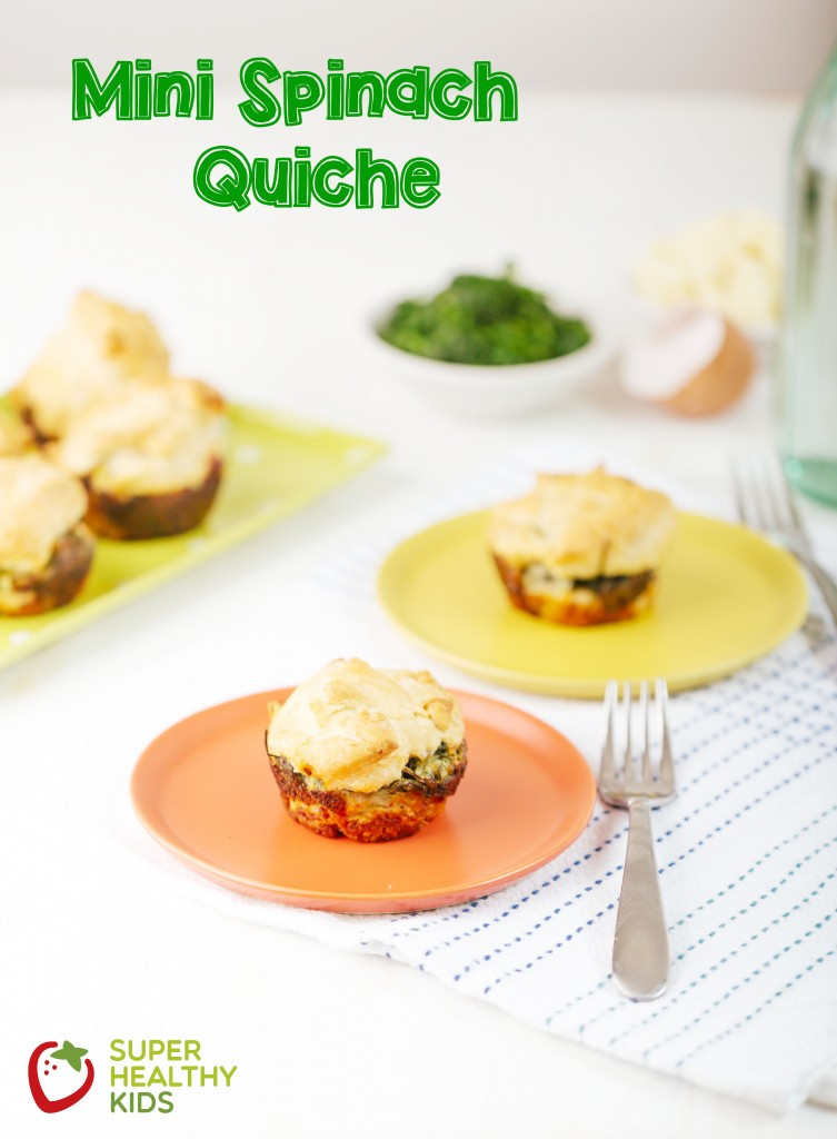 Mini Spinach Quiche with Text
