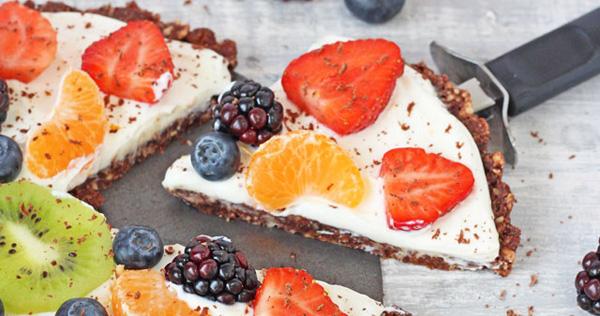Healthy No Bake Chocolate Fruit Pizza Recipe Healthy