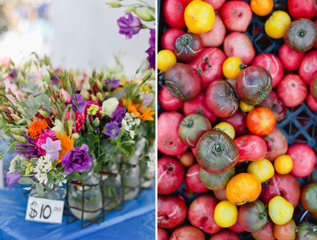 a trip to the farmers market with kids